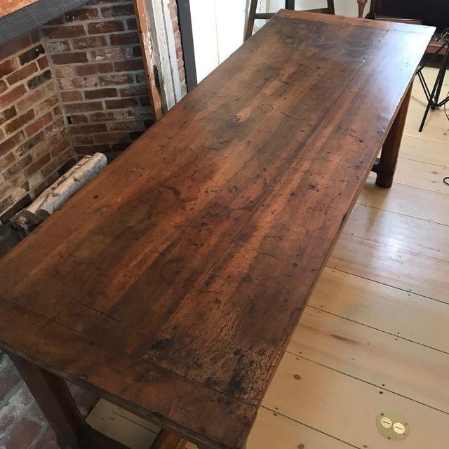 French French 19th Century Walnut Farmhouse Table From Provence For Sale - Image 3 of 13