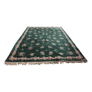 "Karastan Garden of Eden Collection Forest Bouquet Dark Green Rug - 8'8"" X 12'"