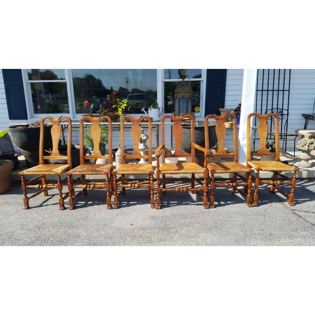 Stickley Reproduction Queen Anne Dining Chairs - Set of 6 - Image 2 of 9
