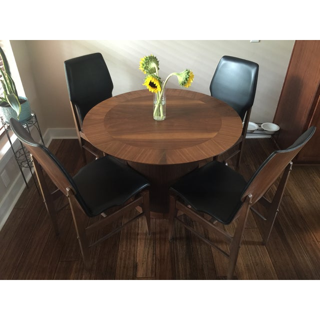 Mid Century Table & Chairs Dining Set - Image 3 of 11