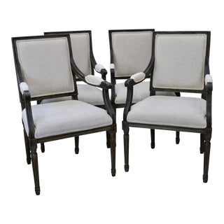 Kincaid Furniture French Arm Chairs - Set of 4 For Sale