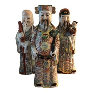 Chinese Figurines - The Sanxing (The Three Elders) - 3 Pieces For Sale