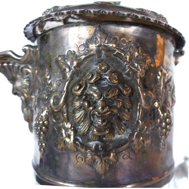 Mid 19th Century 19th Century Sterling Cut and Etched Claret Jug For Sale - Image 5 of 11