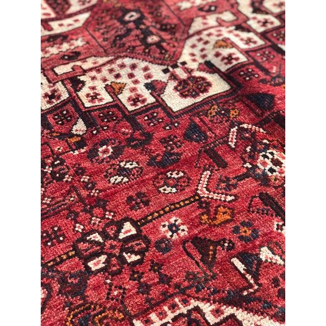 "Vintage Persian Qashghi Rug - 5'1""x8' - Image 6 of 9"
