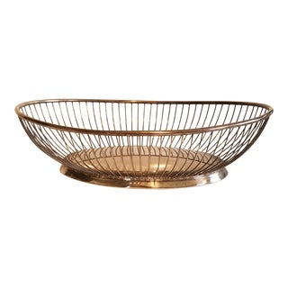 Mid Century Silver Fruit Bowl For Sale