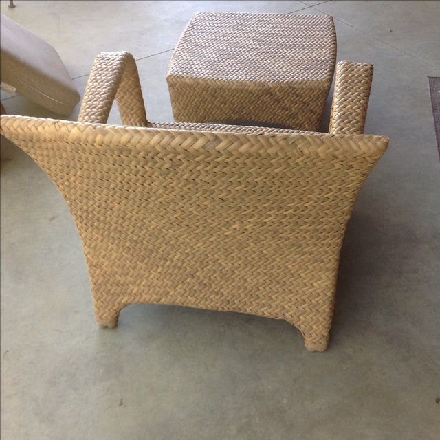 Tremendous Brown Jordan Havana Outdoor Lounge Chair Ottoman Home Remodeling Inspirations Cosmcuboardxyz