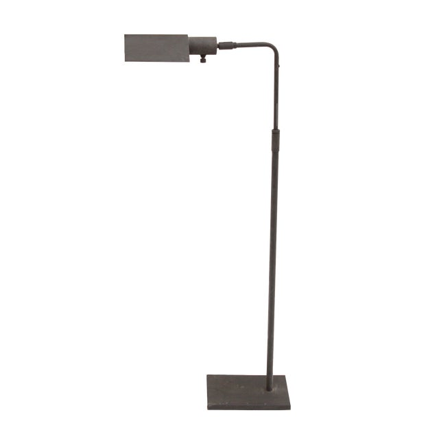 Grey Coated Pharmacy Reading Lamp by Koch + Lowy For Sale