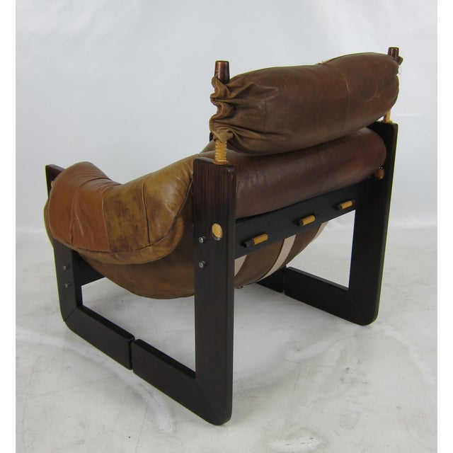 1970s Rosewood Lounge Chair by Percival Lafer For Sale - Image 5 of 7