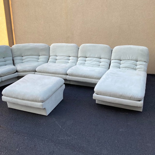 1970s Vladimir Kagan for Preview 7 Piece Modular Sectional For Sale - Image 5 of 13
