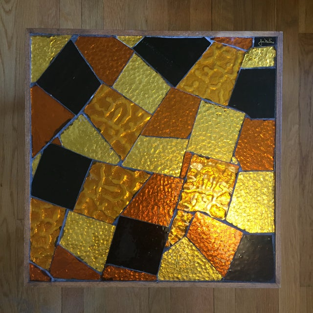 1960s Pair of Mosaic Glass Top Side Tables by Jon Matin For Sale - Image 5 of 10