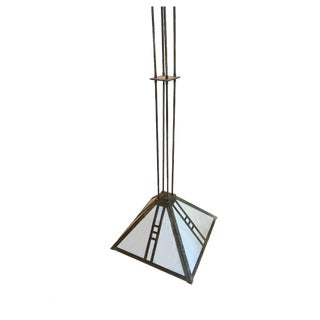 Brass Light Gallery Mission Pendant Fixture For Sale