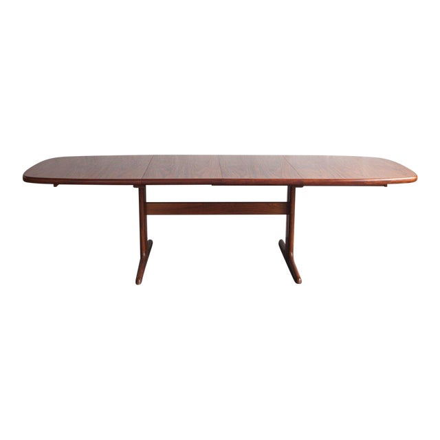 1960s Mid-Century Modern Long Teak Dining Table For Sale