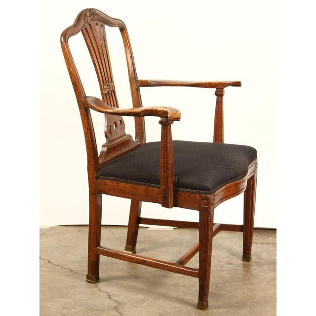 Wood Danish Elm Armchair, circa 1780 For Sale - Image 7 of 8