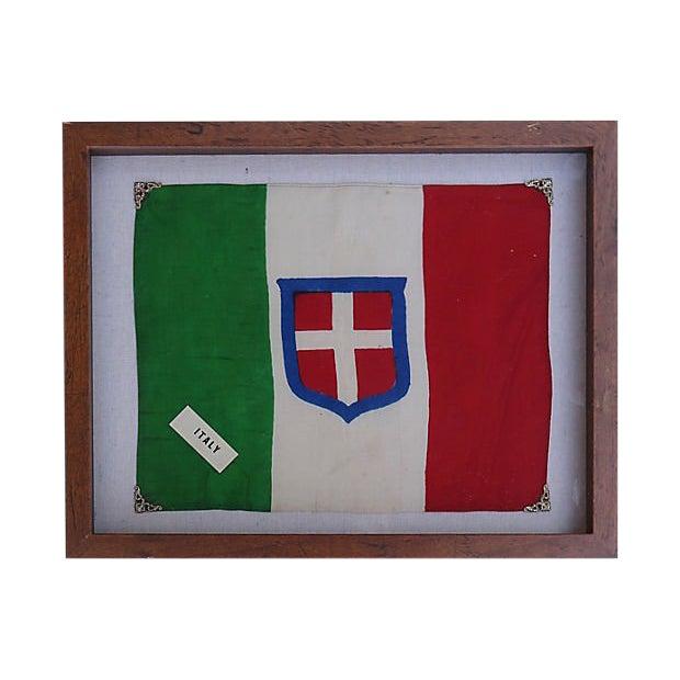 1940s Royal Sardinian Army Silk Flag For Sale