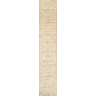 """Pasargad Ny Oushak Design Hand-Knotted Runner Rug - 2'11 X 17'4"""" For Sale"""