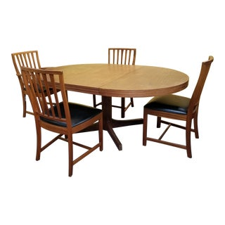 Mid Century Modern Style Dining Set - 5 Pieces For Sale