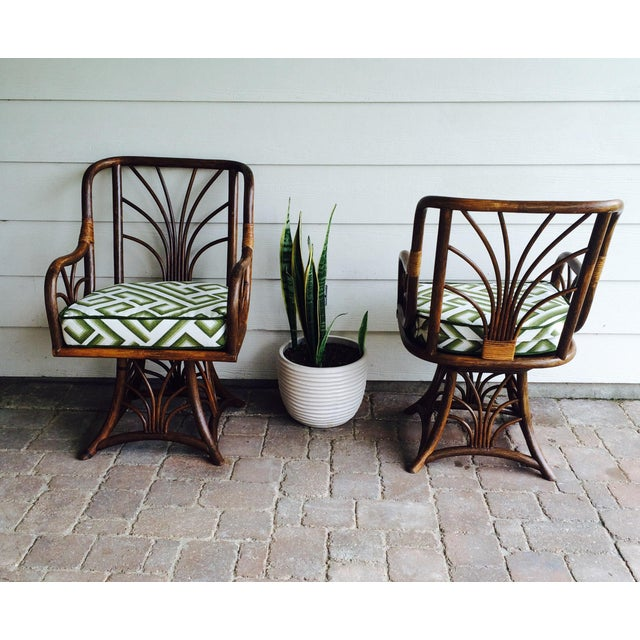 Rattan Swivel Chairs - A Pair - Image 3 of 6