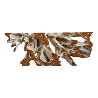 Organic Teak Root Console Table For Sale