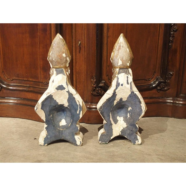 Carved and Parcel Silvered 17th Century Bishops, Lazio Italy - a Pair For Sale - Image 10 of 13