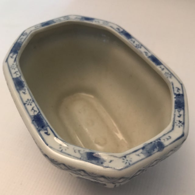 Chinese Blue & White Oval Porcelain Planter For Sale - Image 9 of 12