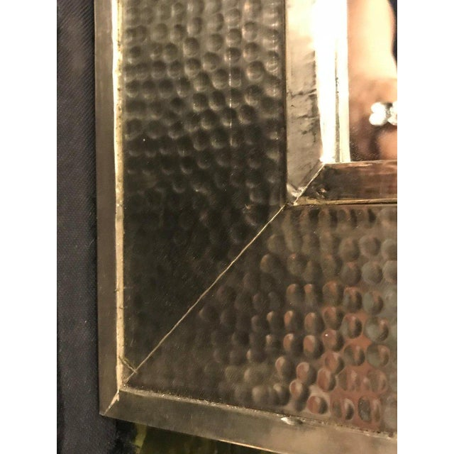 1990s Mid-Century Modern Brass Wall/ Floor Mirrors - a Pair For Sale - Image 4 of 7