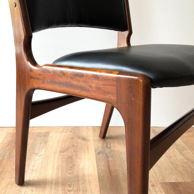 1960s Vintage Rosewood Dining Chairs by Erik Buch (Model 89) - Set of 4 For Sale In Seattle - Image 6 of 13