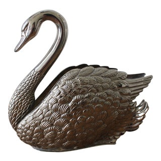 Silver Swan Napkin Holder