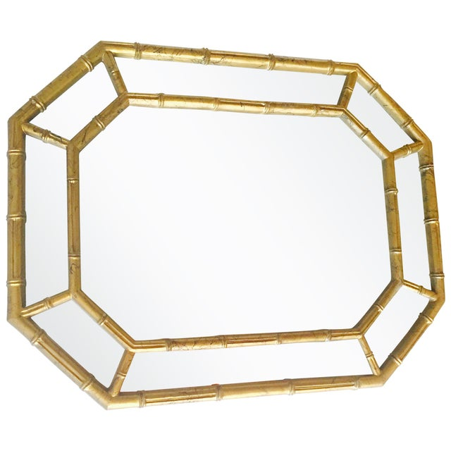 Vintage Gold Faux Bamboo Mirror - Image 3 of 4