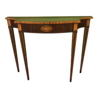 Councill Craftsmen Federal Style Inlaid Mahogany Console Table For Sale
