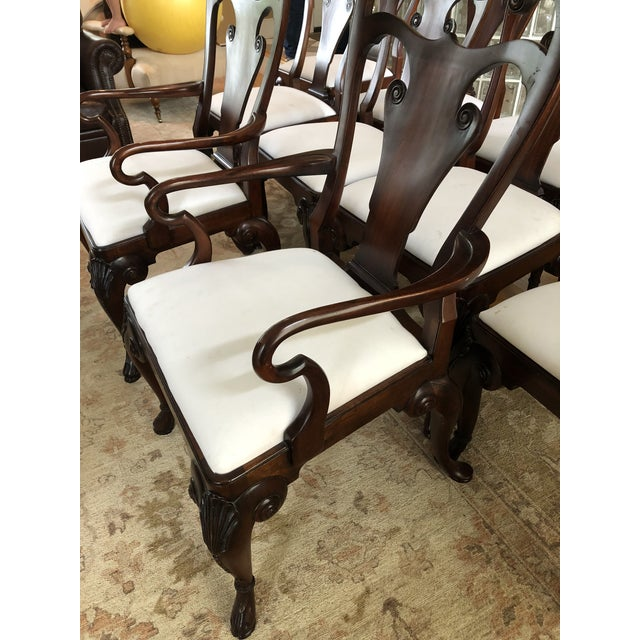 Ralph Lauren for Henredon Beekman Mahogany Dining Chairs - Set of 12 For Sale - Image 10 of 13