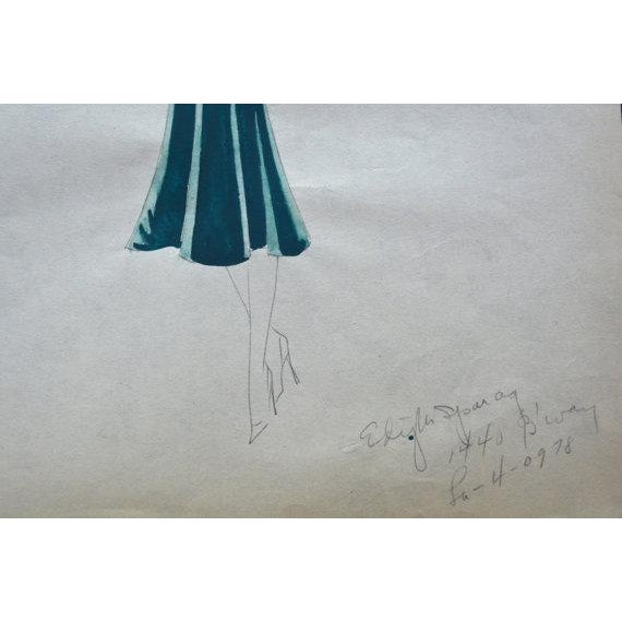 Edith Sparag original sketches done at her original location in NYC and signed. She was working in the 1930s-1959. Her...