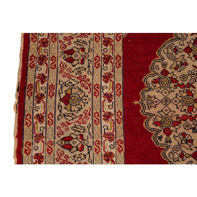 Antique Persian Kerman Rug 3'6'' X 5'2'' For Sale - Image 10 of 13