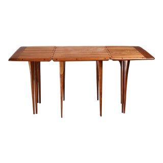 Lee Swennes Studio Craft Drop-Leaf Table With Sixteen Legs, American, 1960s