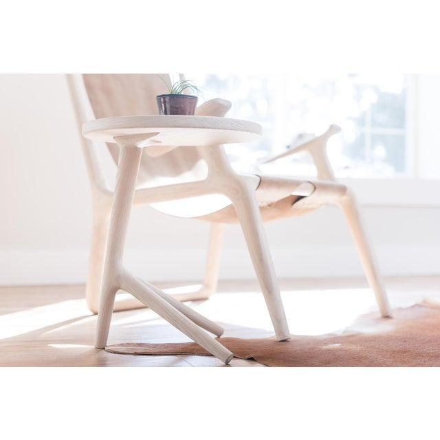 Contemporary White Ash Tripod Nesting End Tables - Set of 3 For Sale - Image 3 of 10