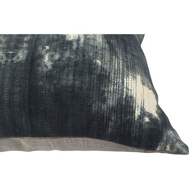 Vintage Grey Tye Dye Mud Cloth Pillow - Image 3 of 4