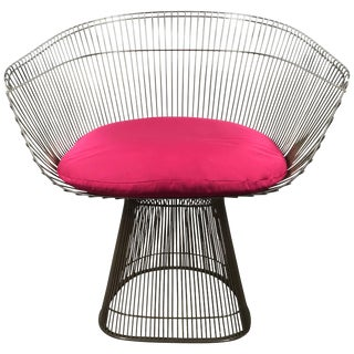 1970s Vintage Warren Platner for Knoll Modernist Armchair For Sale