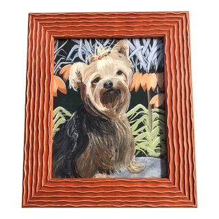 Contemporary Judy Henn Yorkie Dog Print Yorkshire Terrier Framed For Sale