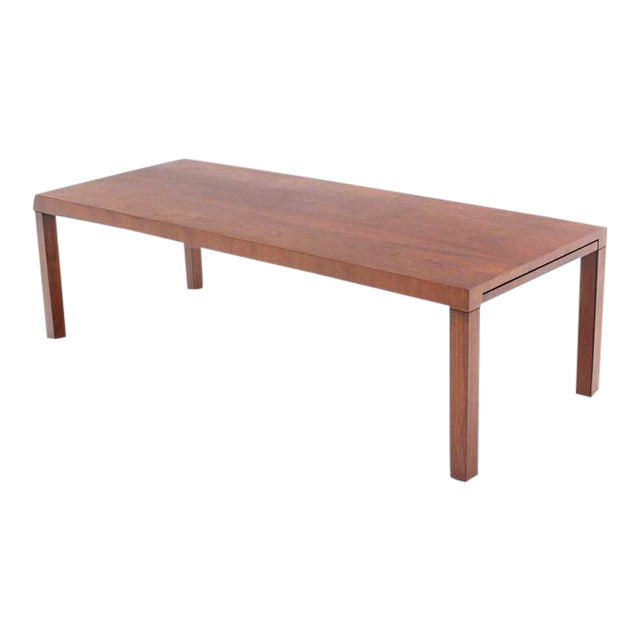 Directional Mid-Century Modern Expandable Walnut Coffee Table For Sale
