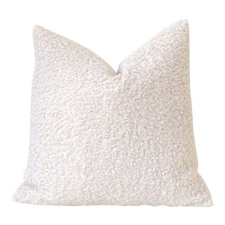 Ivory Faux Poodle Fur Pillow Cover 20x20 For Sale