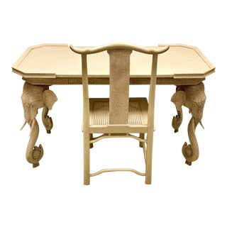 Asian Modern Style Gampel-Stoll Elephant Form Desk & Chair For Sale