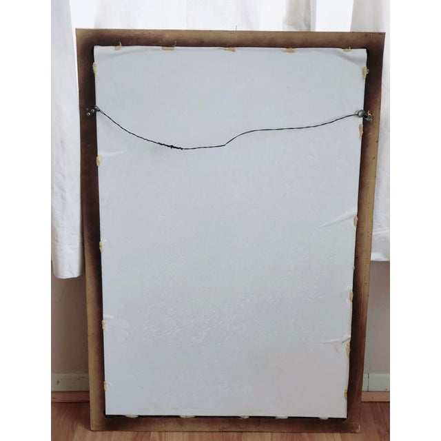 Gilded, Relief Design, Rectangular Wall Mirror For Sale - Image 4 of 5