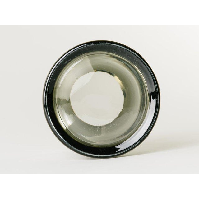 Pair of Danish Modern Smoked Glass Sommerso Vases For Sale - Image 9 of 10