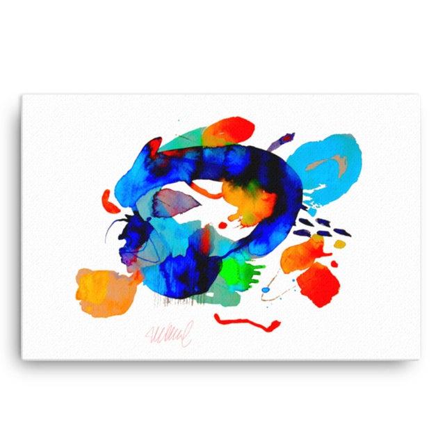 """Miami Splash"" Abstract Art Print - Image 2 of 4"