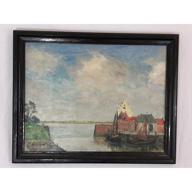 Expressionism Nautical European Oil Painting For Sale - Image 3 of 3