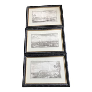 Antique French Architectural Prints - Set of 3 For Sale