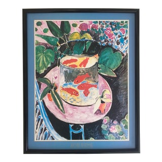 "Matisse Original Vintage 1989 Framed Lithograph Poster ""Goldfish"", 1911 For Sale"