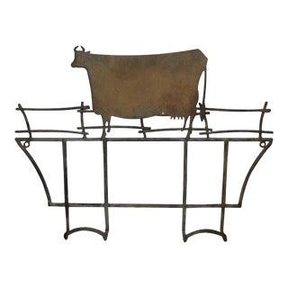 Folk Art Cow / Dairy Rack For Sale