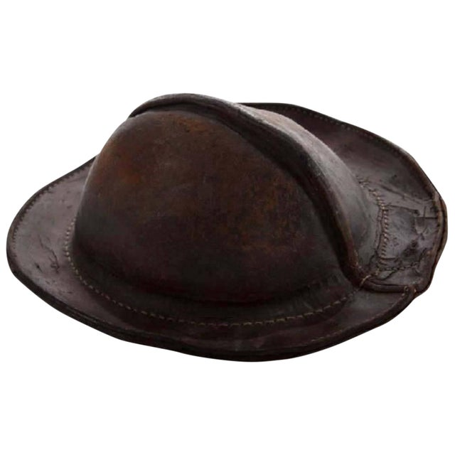 fa3f57c82d1f Early 19th Century Italian Leather Military Cap For Sale. Early 19th  century Italian leather military cap Unique object with worn ...