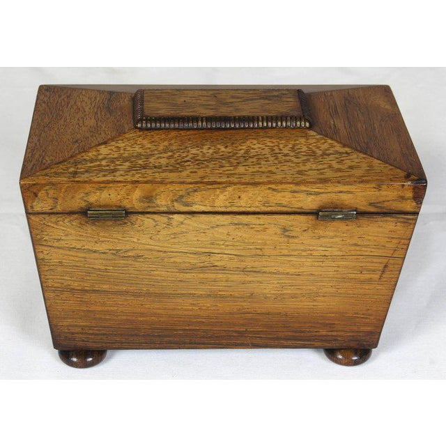 Regency Mahogany Sarcophagus Form Tea Caddie For Sale - Image 5 of 11