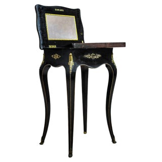 19th Century Napoleon III Mahogany Sewing Table For Sale